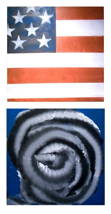 "Rick Arnitz, ""Detail #1"" & ""Detail #2"" oil on canvas."