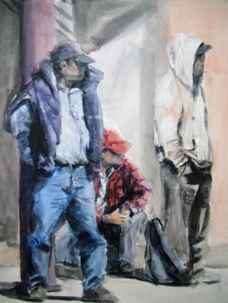 """Gabriele Bungardt, """"Daily Wait,"""" Acrylic"""