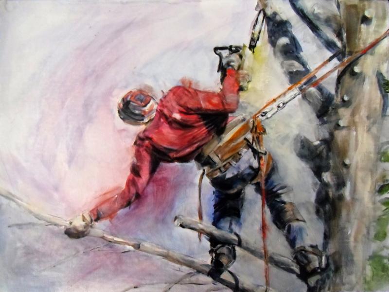 "Gabriele Bungardt, ""Minimum Wage,"" acrylic"