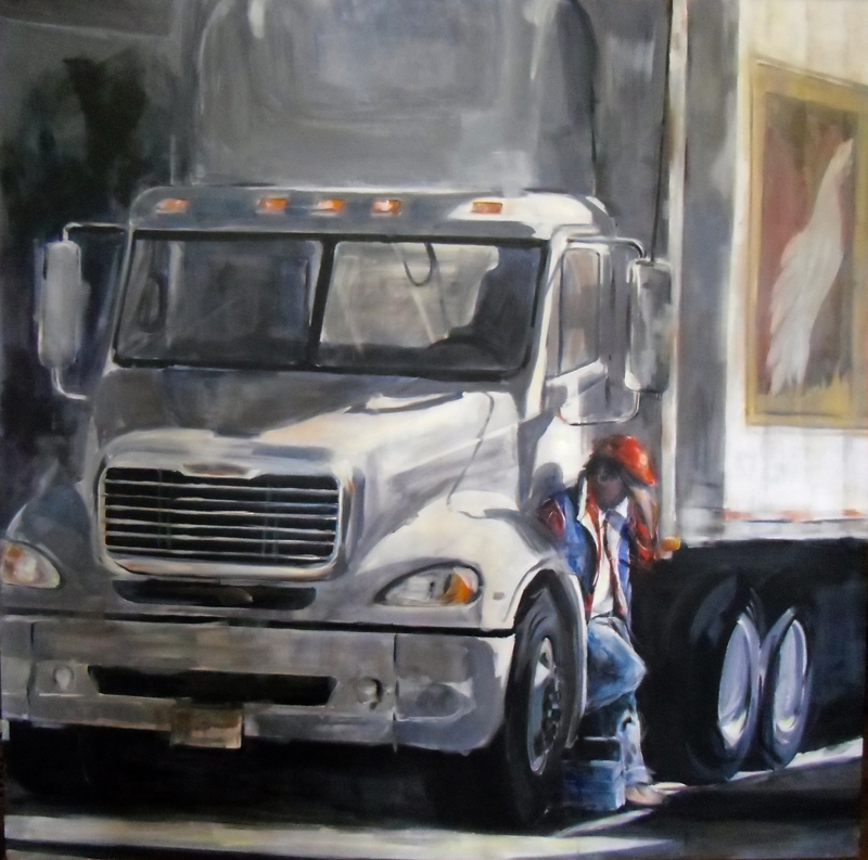 """Gabriele Bungardt, """"The Long Way Home,"""" acrylic"""