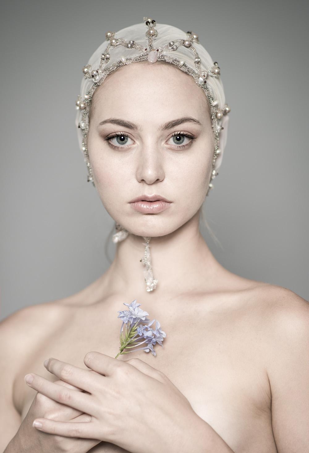 "Anna Halldin Maule, ""Flora,"" oil."