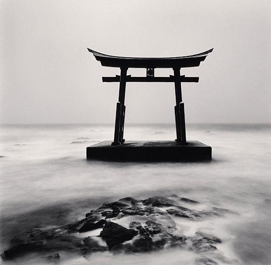 "Michael Kenna, ""Torii Gate, Study 2,"" Shosanbetsu, Hokkaido, Japan, 2014, silver gelatin print."